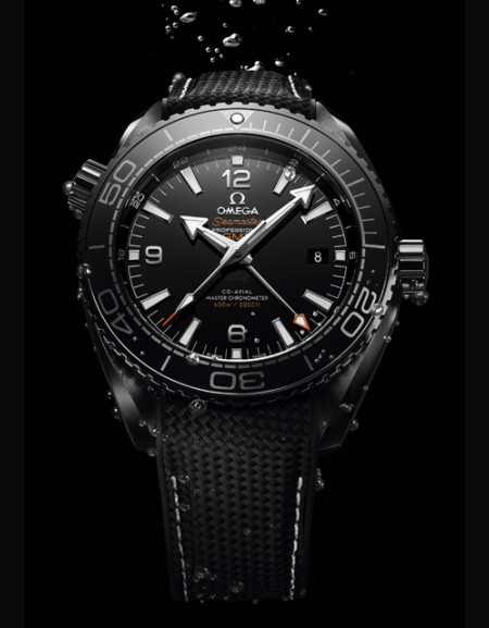 replica horloges Omega Seamaster Planet Ocean 600M Master Chronometer GMT Deep Black