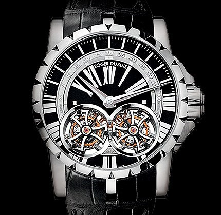 Replica Roger Dubuis  horloges  Excalibur Skeleton Double Flying Tourbillon